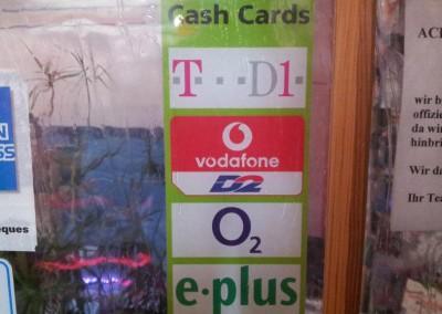 Cash-Karten (Prepaidkarten)